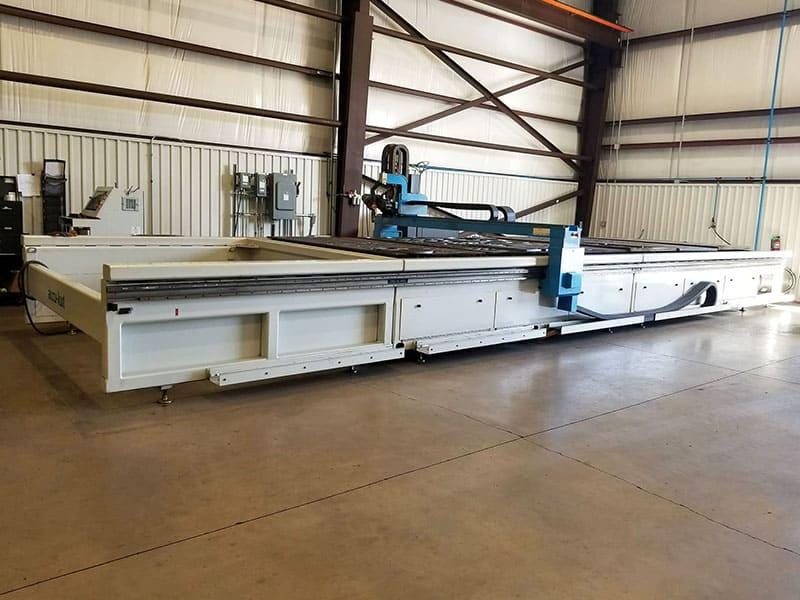 accu-kut 36x8 with Oxy-fuel Cutting Area and Robo-Kut